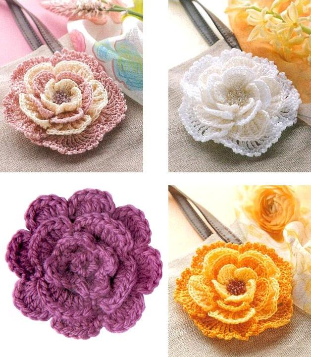 Цветы — Вязание крючком